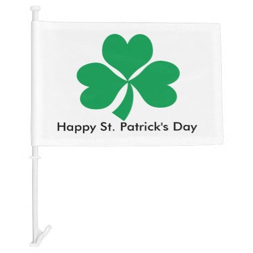 St Paddy's day car flag
