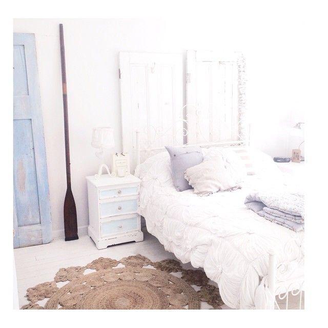 white bedroom   @abeachcottage instagram abeachcottage.com