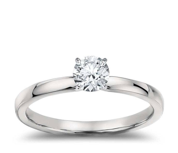 Platinum 0.50ct D VS2 Brilliant Cut Diamond Solitaire Engagement Ring Hand Made GIA CERTIFIED by WGJewellery on Etsy