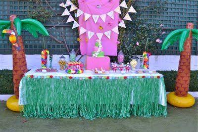 Luau Party - Dessert Table