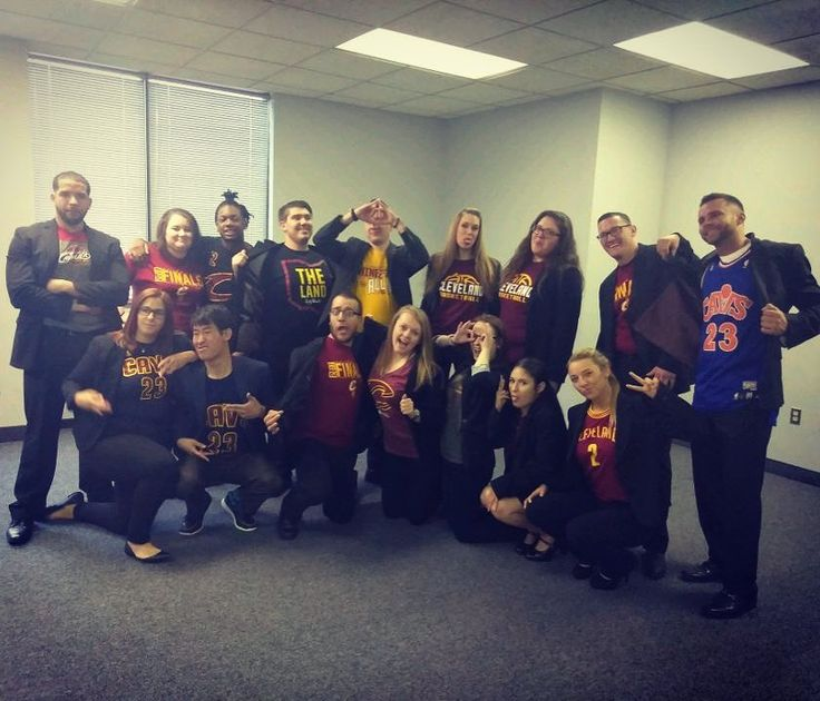 Show your #cleveland spirit at the office today  Let's go @cavs  #forestcityconsulting #defendtheland #game4