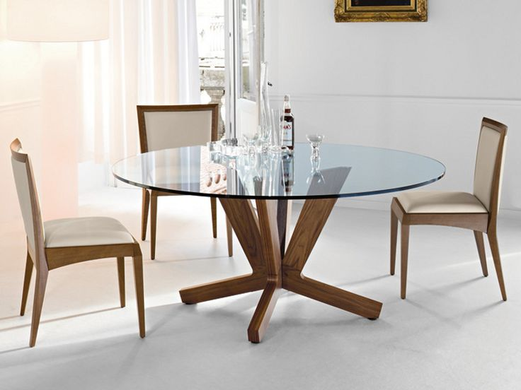 17 mejores ideas sobre mesa redonda cristal en pinterest - Mesa comedor redonda cristal ...