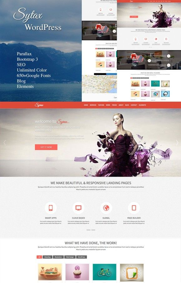55 best WordPress Landing Page Themes images on Pinterest ...