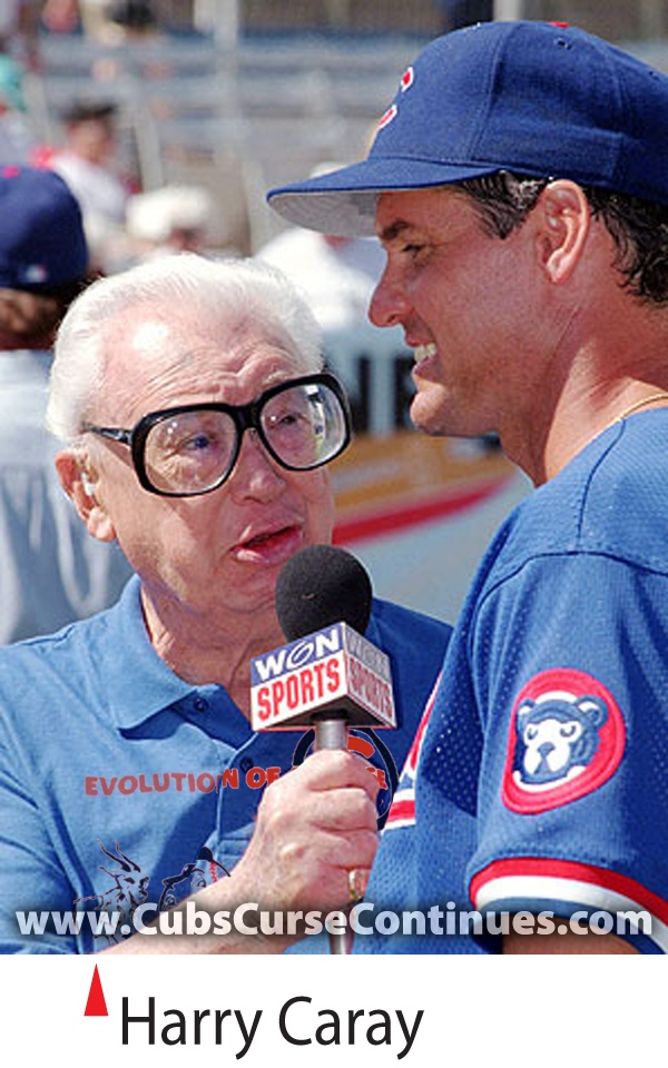 Harry Caray and Ryne Sandberg