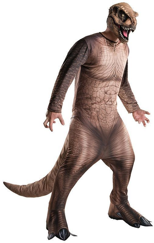Stomp your way to a killer Halloween in this Adult Jurassic World Tyrannosaurus Rex Costume.