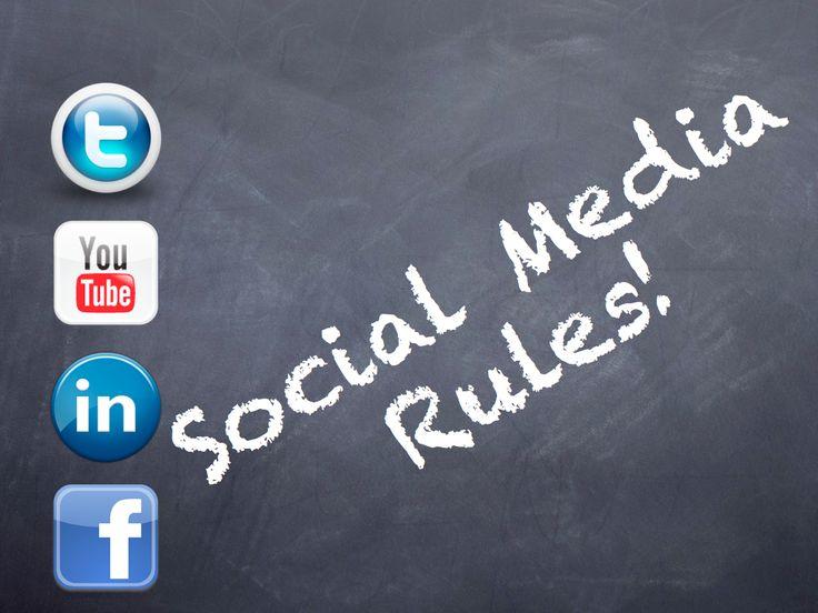 Social Media Rules: Positief Social Media Protocol voor onderwijs Dd. 17-1-2012 - Social Media Wijs