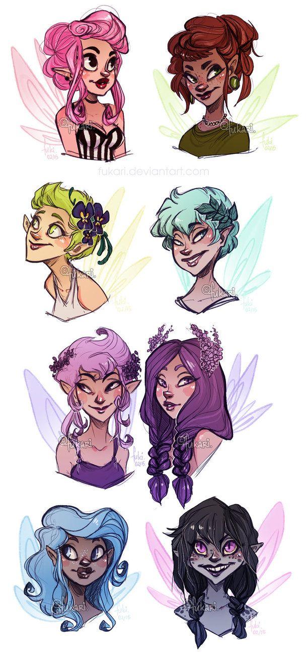 fairies - adoptable by Fukari on DeviantArt
