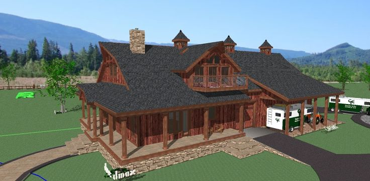 Plans for barns with living quarters woodworking for Horse stable plans with living quarters