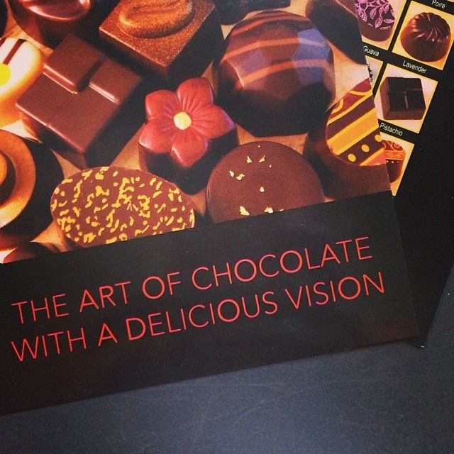 Glossy #postcard and #menu for Santa Rosa's #chocolatier #EyeCandy who specializes in high end #truffles