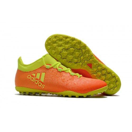 обувь мужская Adidas X 17.1 TF желтый оранжевый