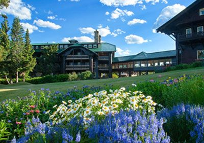 I loved staying at the Glacier Park Lodge in East Glacier Park, Montana.