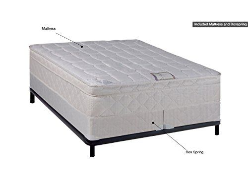 Spinal Solution 9″ Pillowtop Fully Assembled Orthopedic Mattress and 8″ Split Box Spring, Queen