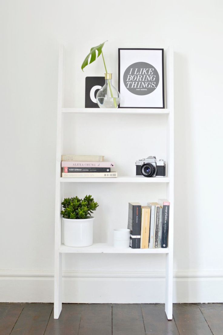 DIY | ladder shelf | burkatron | DIY + lifestyle blog