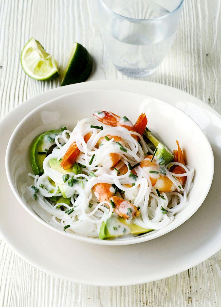 Prawn and avocado salad with coconut dressing