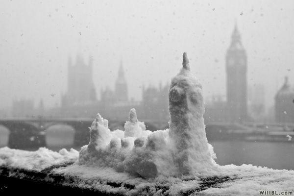 replica.: England, Snowy London, Minis Houses, Snow Castles, London Snow, Travel, London Call, Big Ben, Bigben