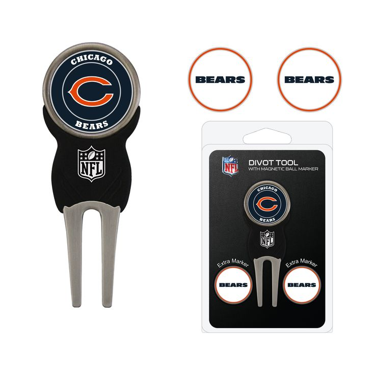 Chicago Bears Divot Tool Pack with 3 Golf Ball Markers