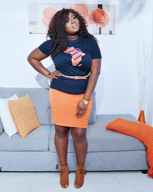 The AfroFusion Spot: Miss G: #OOTD Looks of the Week - 3 Ways to Dress-up Your T-Shirt, ootd, black, gold, personal style, style, animal print, orange, home decor interior design, fashion style, ghana girl, lookbook, black and white, tshirt, t shirt