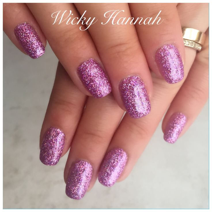 Holographic Purple Glitter Gel Polish   #wickyhannah #glittergelpolish #purpleglitter