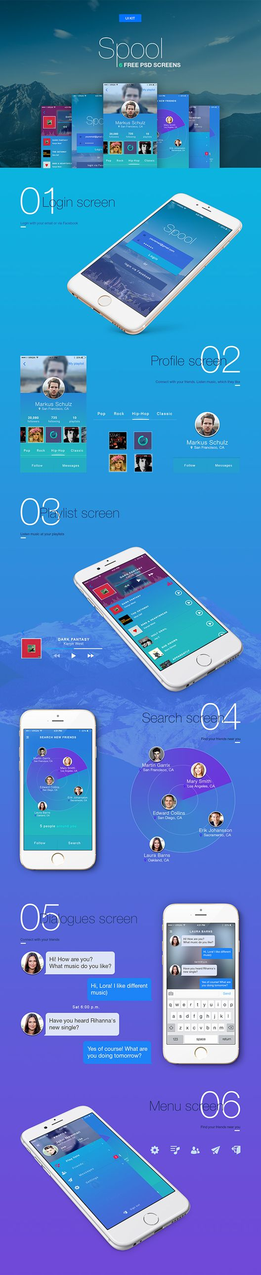 모바일 UI 디자인소스 .PSD