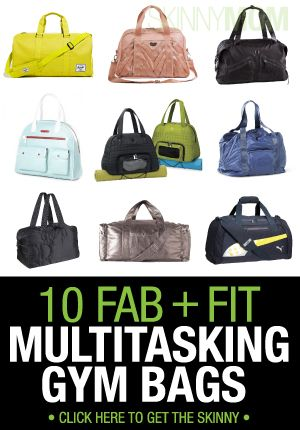 Having an awesome gym bag is essential, but having a gym bag that you can also run errands with is even better! Check out these awesome bags!