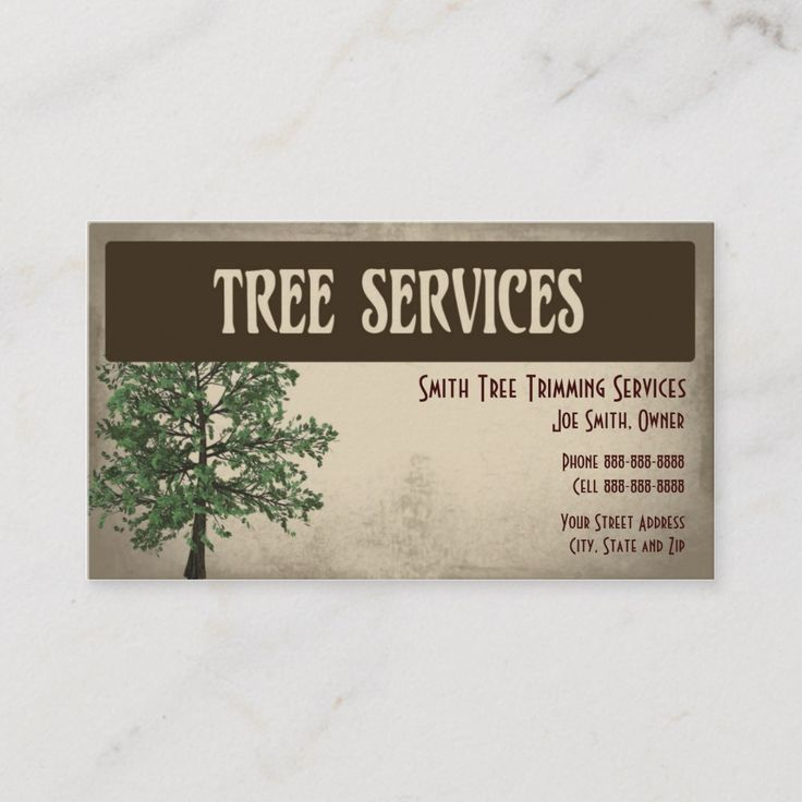 Tree Trimming Care Services Business Card Zazzle Com Landscaping Business Cards Tree Trimming Tree Service Tree services business cards