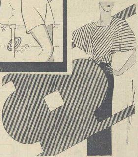 Faldas y vestidos: moda del verano de 1930 - blusa santiamén