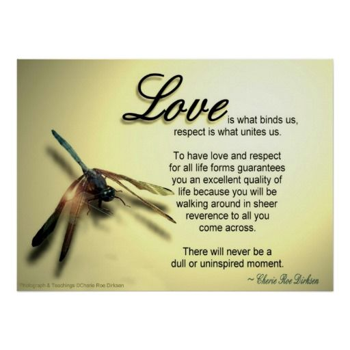 Love And Respect Quote Poster #love #quote #lovequote