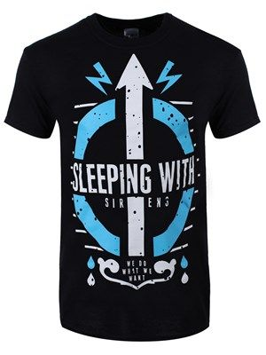 Sleeping With Sirens Do What We Want Men's Black T-Shirt