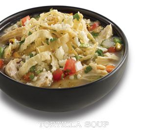 El Pollo Loco chicken tortilla soup w/o tortilla strip