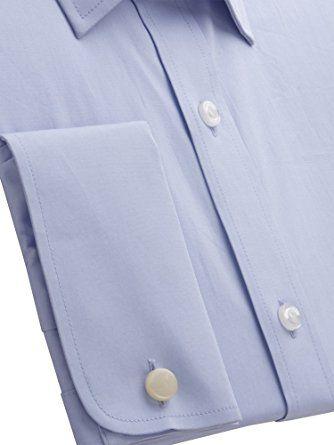 Suit Direct Pierre Cardin Blue Poplin Shirt - PC400745 Tailored Fit Formal Shirt: Amazon.co.uk: Clothing