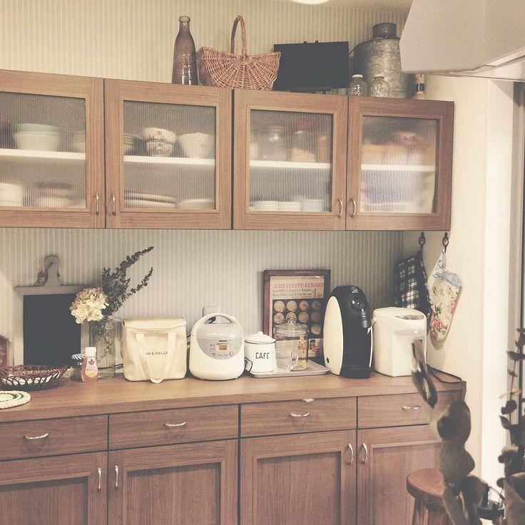 台所/吊り戸棚/キッチンのインテリア実例 - 2015-08-14 22:11:28 | RoomClip(ルームクリップ)