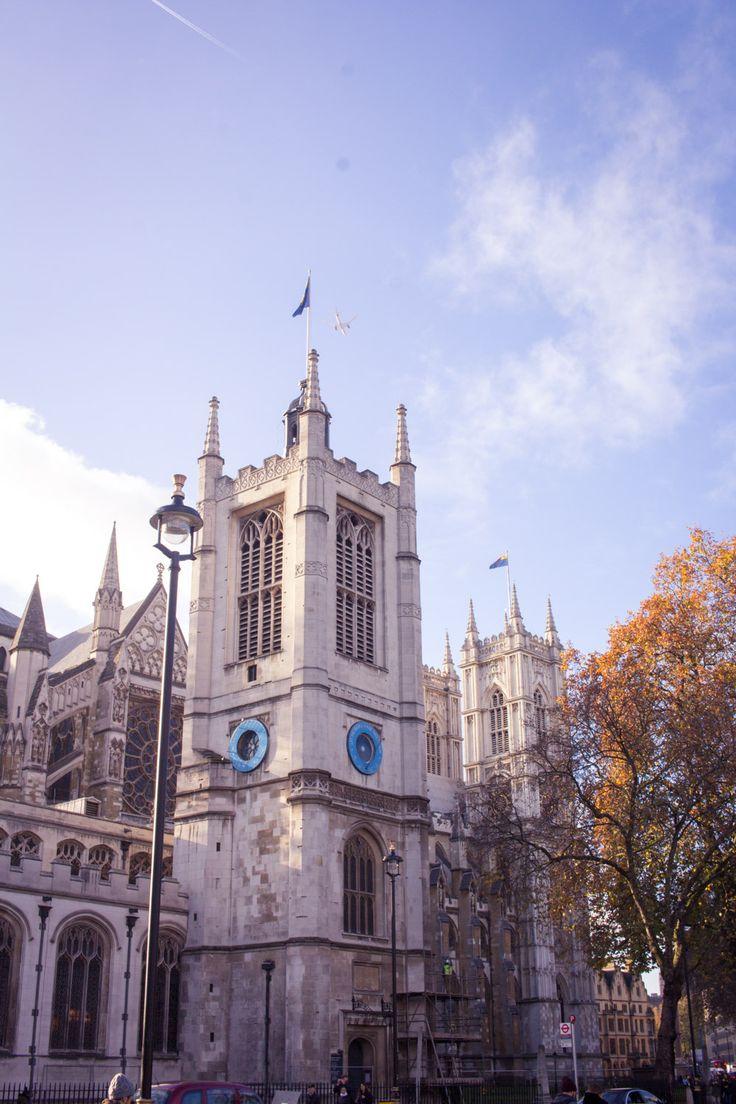 Westminster Abbey in winter. London, England