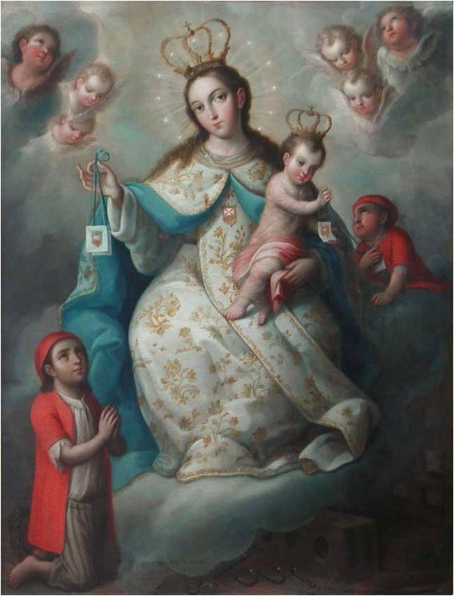 José de Páez, Virgen de la Merced, óleo sobre lámina de cobre, 85 x 65 cm., ca. 1775, colección: Museo Blaisten, catalogación: Juan Carlos Cancino.