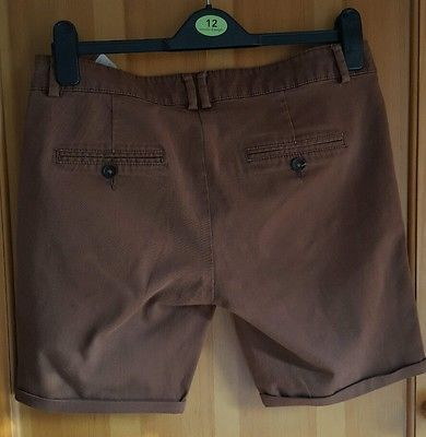Zara Women Brown Shorts Size Euro L, 10-12 UK, 30W, 6,5L