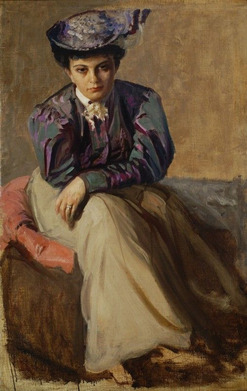 Leon Jan Wyczolkowski (Polish, 1852-1936) - Portrait of Sophia Cybulska