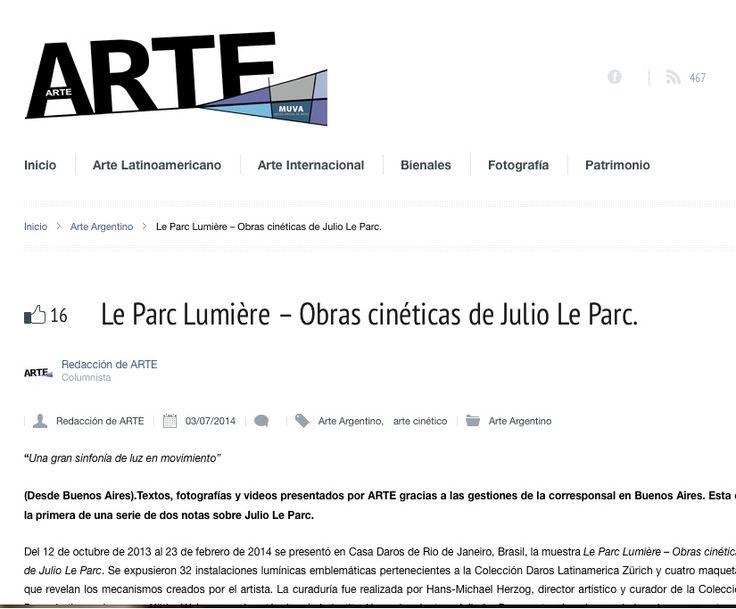 arte el país uy: http://arte.elpais.com.uy/le-parc-lumiere-obras-cineticas-de-julio-le-parc/#.U8bpRV6_NEI