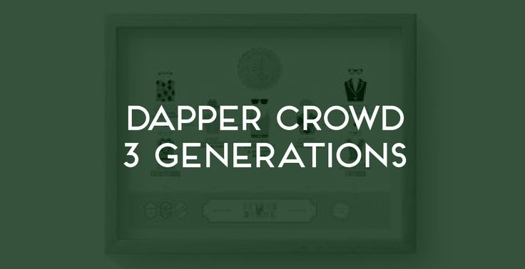 Dapper Crowd 3 Generations. The Family Tree Co ©