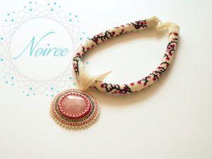 Romantyczny naszyjnik z kwarcem różowym - romantic necklace with pink quartz