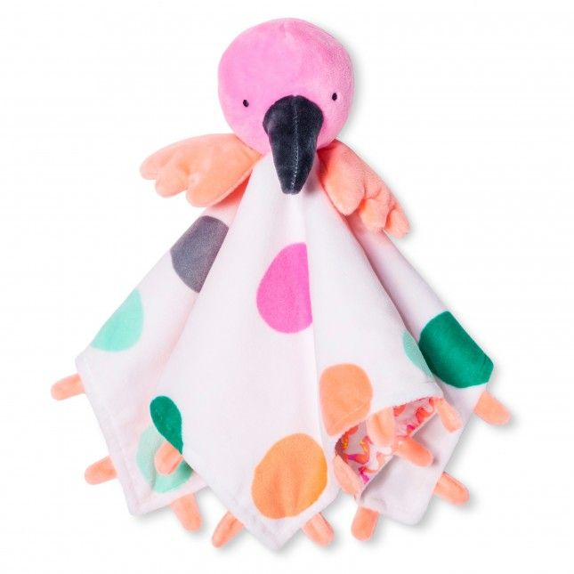 Your bundle of joy will sleep safe + sound while cuddling up with this flamingo blanket.