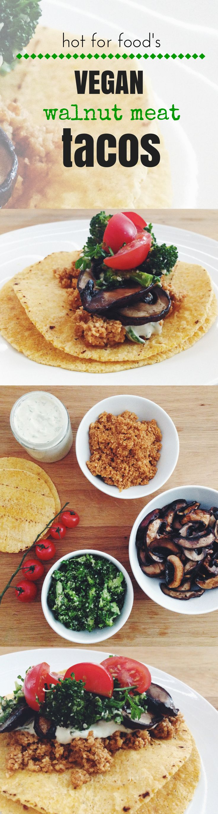 vegan walnut meat tacos | RECIPE on hotforfoodblog.com