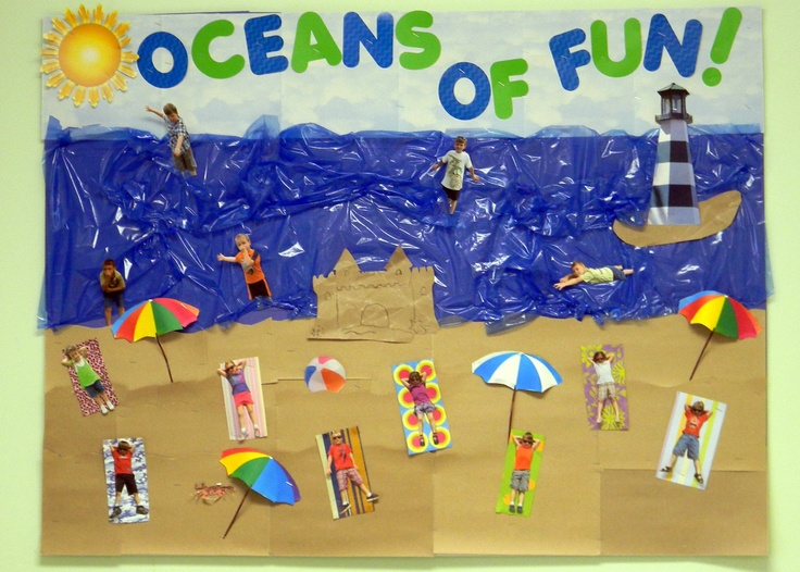 my summer bulletin board! | I've got class! | Summer ...