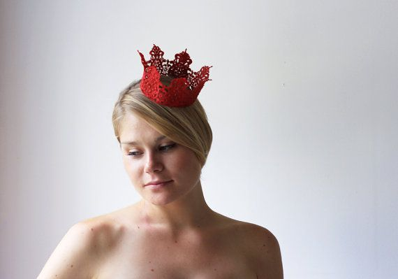 The Red Queen Crown   royalty halloween costume by neesiedesigns, $17.00