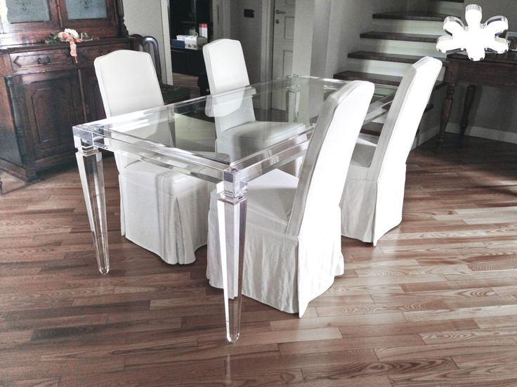 Lucite Acrylic Dining Table   Acrylic Furniture   TAVOLI PRANZO IN  PLEXIGLASS | Tavolo Trasparente In