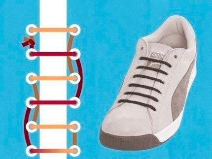Как завязывать туфли шнурками внутрь