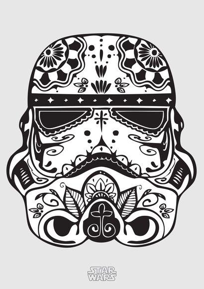 Poster 'Stormtrooper' com moldura