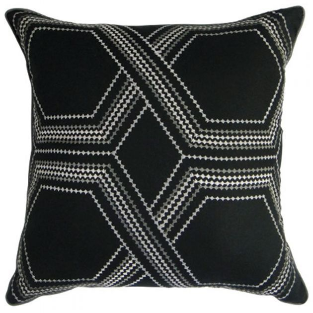 Apollo Square Cushion, Black/Grey