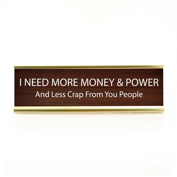 Enesco Our Name Is Mud Funny Desk Plate Money &Power