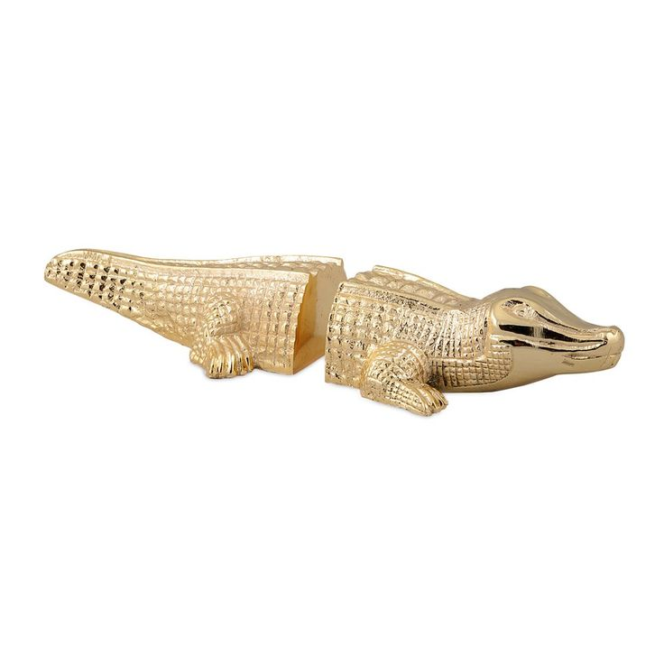 IMAX Worldwide 81411-2 Heche Alligator Bookends (Set of 2)
