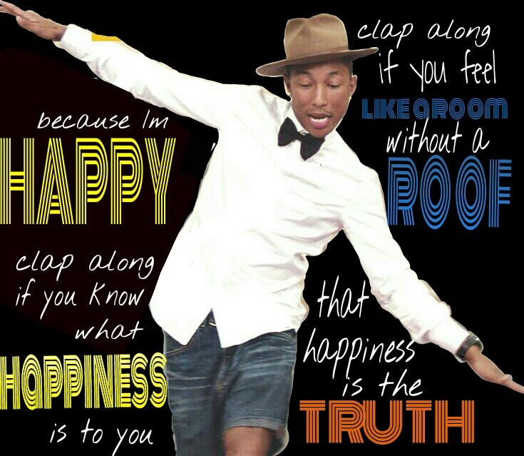 """Singing along to Pharell Williams' """"Happy"""""""