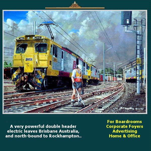 A very powerful double header electric leaves Brisbane Australia, and north-bound to Rockhampton.. https://www.youtube.com/watch?v=s1rg_kixu_w greatvideo@yahoo.com.au